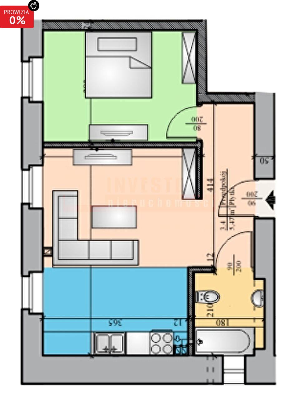 Mieszkanie dwupokojowe na sprzedaż Brzeg  40m2 Foto 5