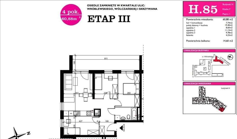 Mieszkanie czteropokojowe  na sprzedaż Łódź, Śródmieście  61m2 Foto 4