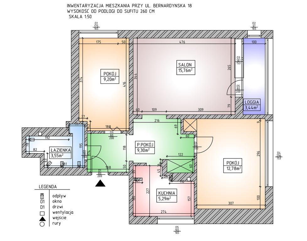 Mieszkanie trzypokojowe na sprzedaż Warszawa, Mokotów, Dolny Mokotów, Bernardyńska 18  55m2 Foto 1