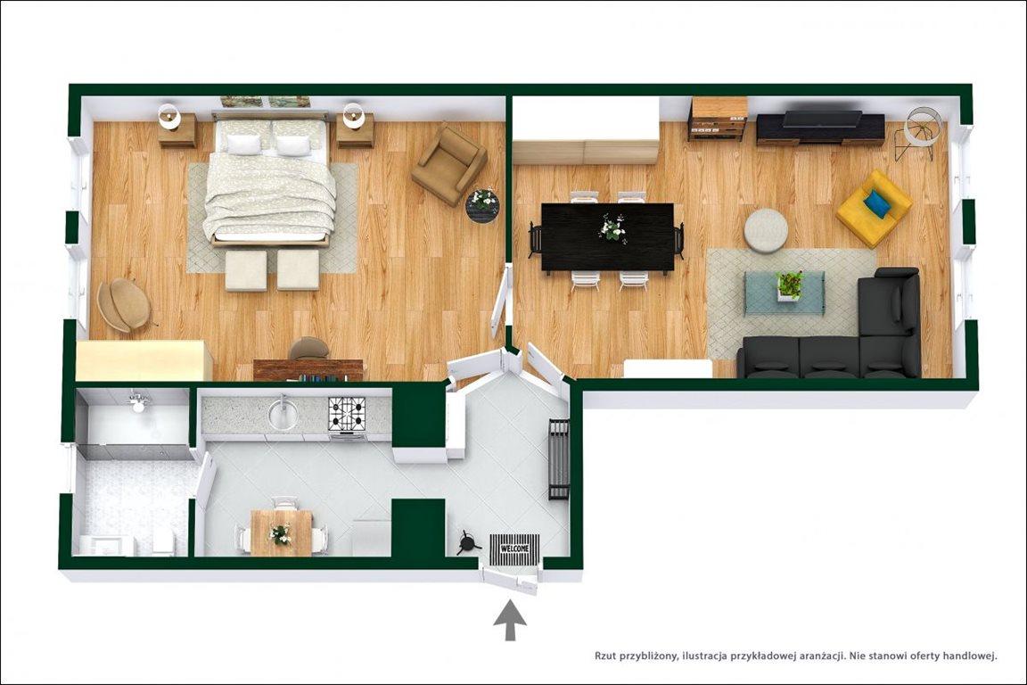 Mieszkanie dwupokojowe na sprzedaż Wrocław, Leśnica, Dolnobrzeska  66m2 Foto 11