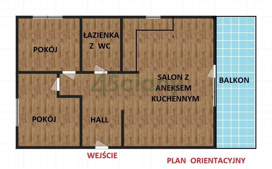 Mieszkanie dwupokojowe na sprzedaż Ząbki, Powstańców  65m2 Foto 3