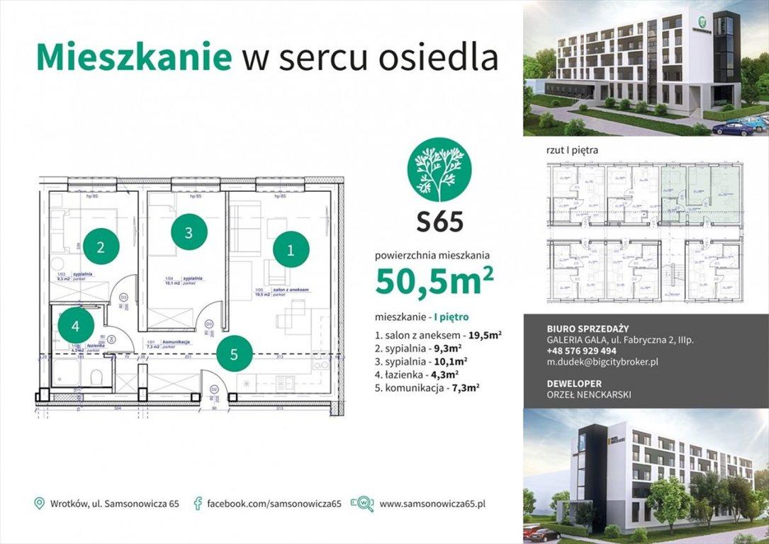 Mieszkanie trzypokojowe na sprzedaż Lublin, Wrotków  51m2 Foto 11