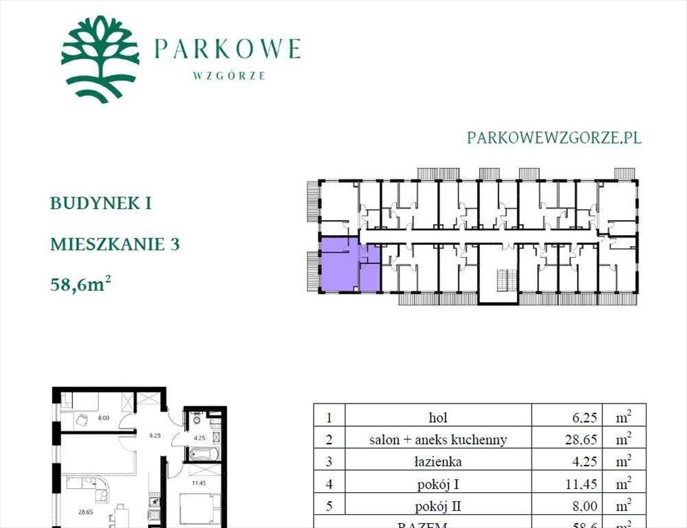 Mieszkanie trzypokojowe na sprzedaż Czechowice-Dziedzice, Legionów 124a  59m2 Foto 5