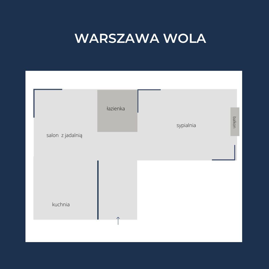 Mieszkanie dwupokojowe na sprzedaż Warszawa, Wola, Młynów, Długosza  42m2 Foto 9