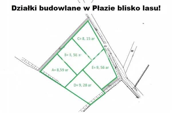 Działka budowlana na sprzedaż Płaza, Płaza, Płaza  815m2 Foto 2