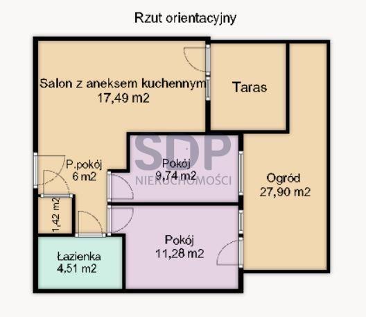 Mieszkanie trzypokojowe na sprzedaż Wrocław, Psie Pole, Zakrzów  50m2 Foto 2