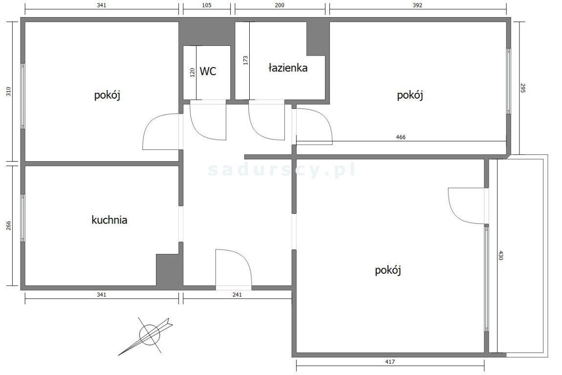 Mieszkanie trzypokojowe na sprzedaż Kraków, Mistrzejowice, Mistrzejowice, os. Oświecenia  63m2 Foto 3