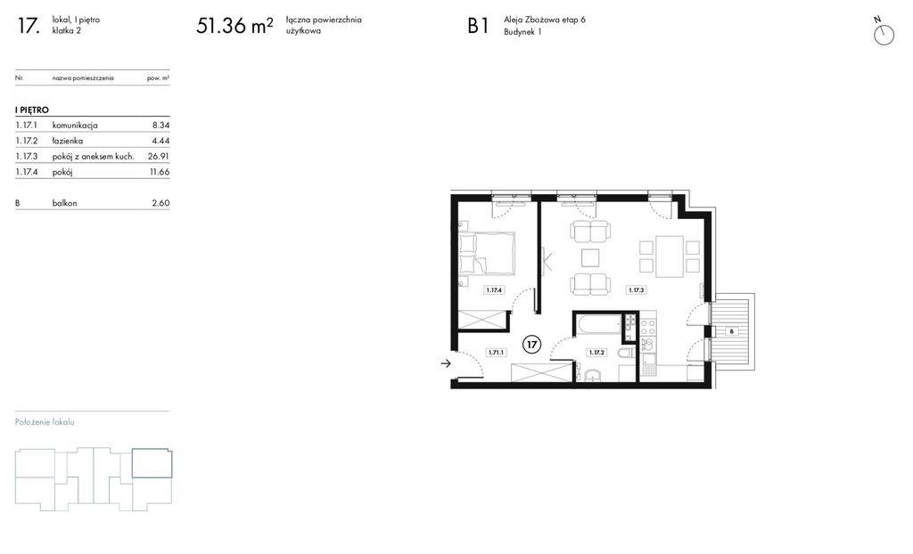Mieszkanie dwupokojowe na sprzedaż Wieliczka, Zbożowa  51m2 Foto 10