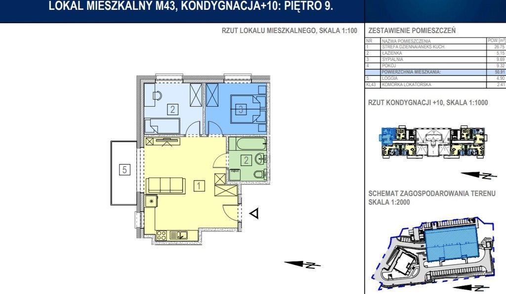 Mieszkanie trzypokojowe na sprzedaż Rzeszów, Bałtycka  51m2 Foto 3