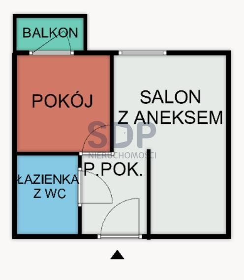 Mieszkanie dwupokojowe na sprzedaż Wrocław, Stare Miasto, Stare Miasto, Tęczowa  41m2 Foto 2