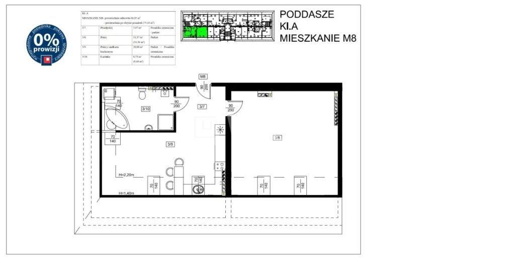 Mieszkanie dwupokojowe na sprzedaż Szprotawa, Koszarowa  67m2 Foto 2