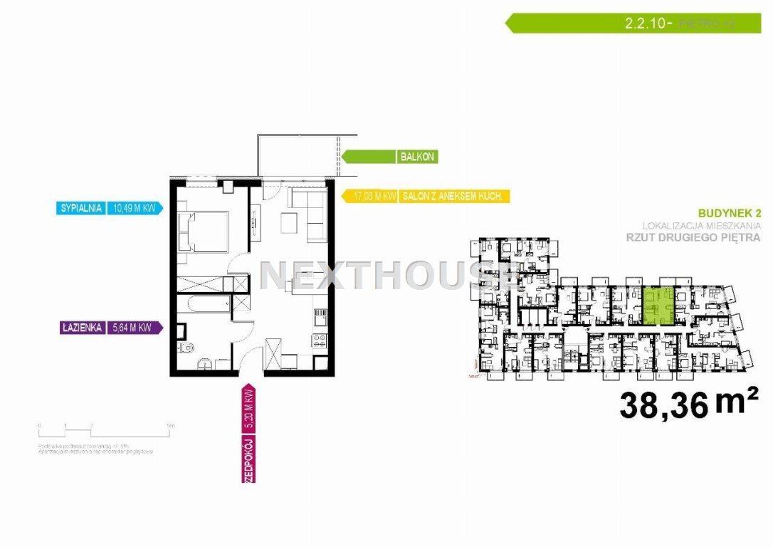 Mieszkanie dwupokojowe na sprzedaż Gliwice, Stare Gliwice  38m2 Foto 2