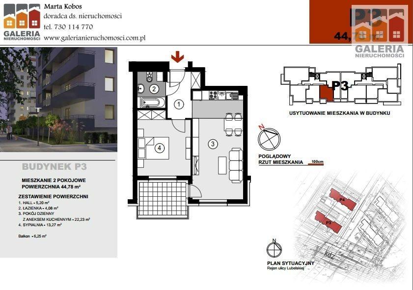 Mieszkanie dwupokojowe na sprzedaż Rzeszów, Staromieście, Lubelska  45m2 Foto 1