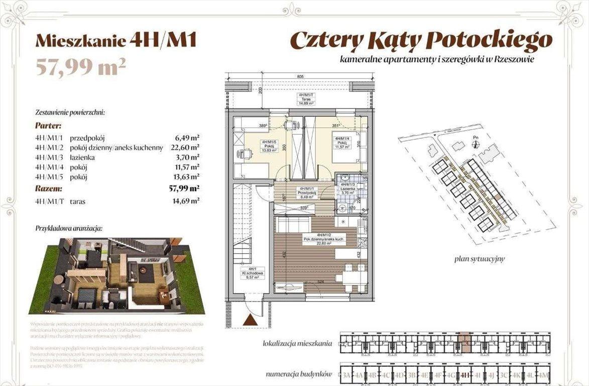 Dom na sprzedaż Rzeszów, ul. hr. alfreda potockiego  58m2 Foto 1
