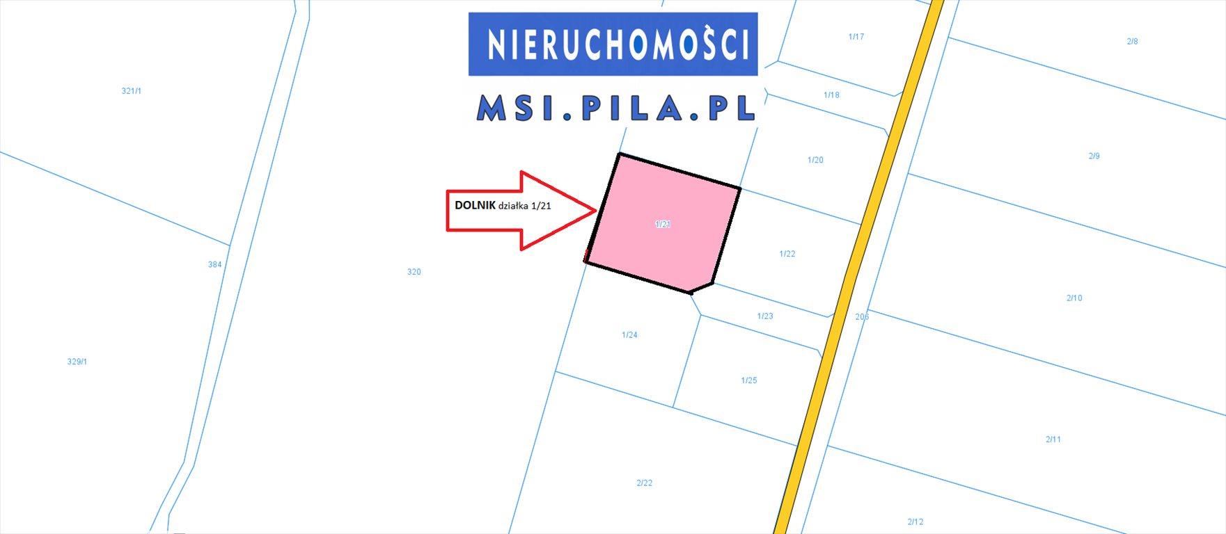 Działka budowlana na sprzedaż Dolnik  1208m2 Foto 1