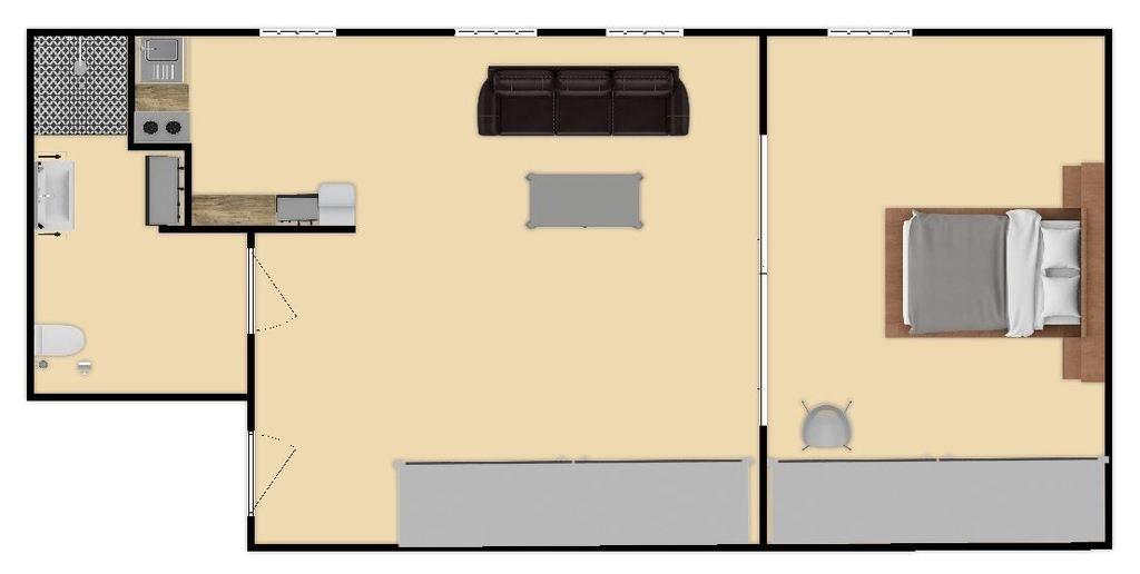 Mieszkanie dwupokojowe na wynajem Kraków, Nowa Huta, os. Centrum A  35m2 Foto 8