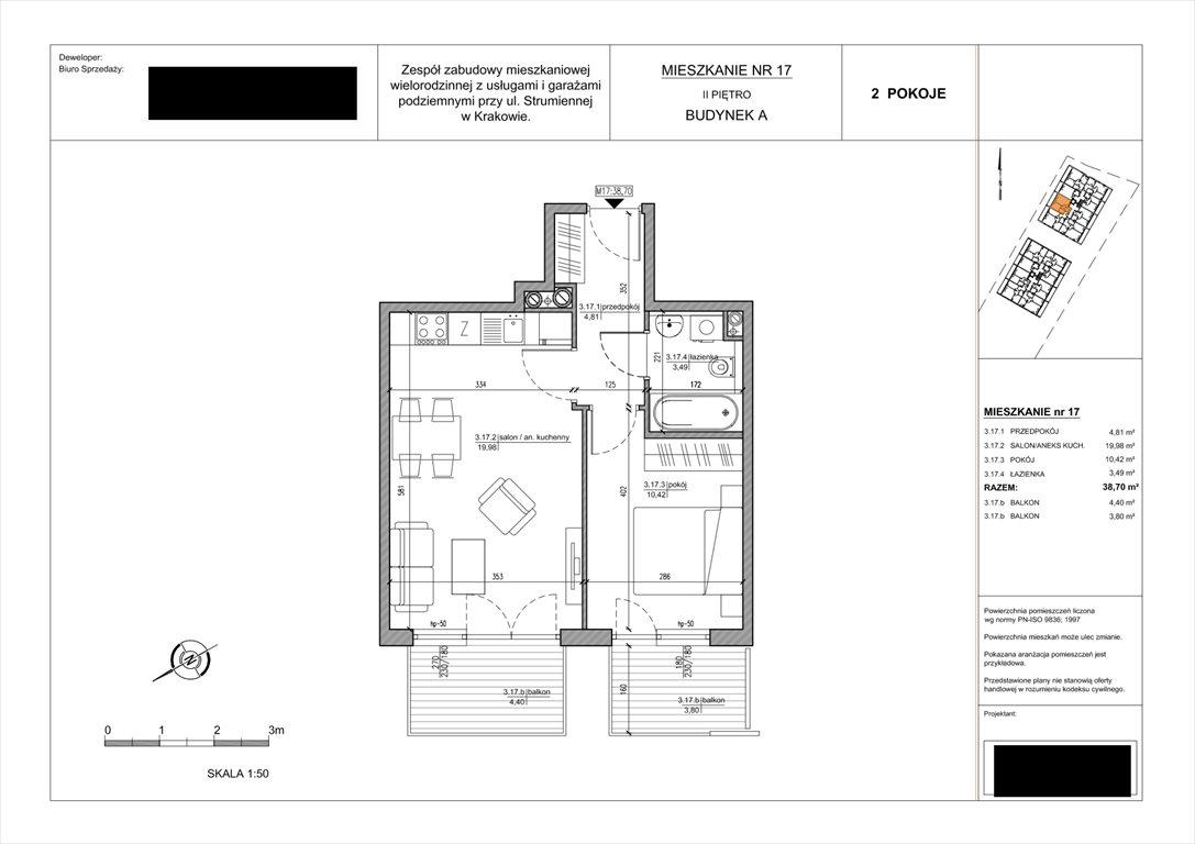 Mieszkanie dwupokojowe na sprzedaż Kraków, Podgórze, Strumienna  39m2 Foto 8