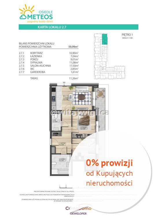 Mieszkanie trzypokojowe na sprzedaż Wrocław, Psie Pole, Sołtysowice, Poprzeczna  60m2 Foto 7
