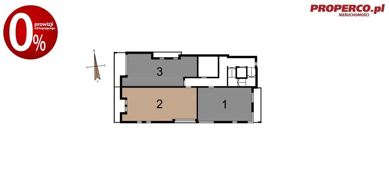 Mieszkanie trzypokojowe na sprzedaż Ostrowiec Świętokrzyski, Centrum, Piwna  71m2 Foto 5