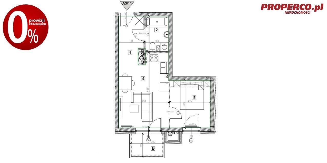 Mieszkanie dwupokojowe na sprzedaż Nowiny  34m2 Foto 9
