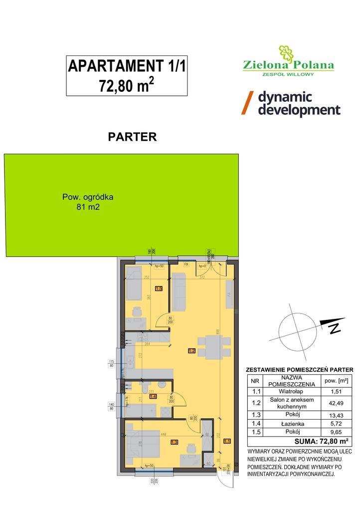 Mieszkanie trzypokojowe na sprzedaż Zamienie  73m2 Foto 9