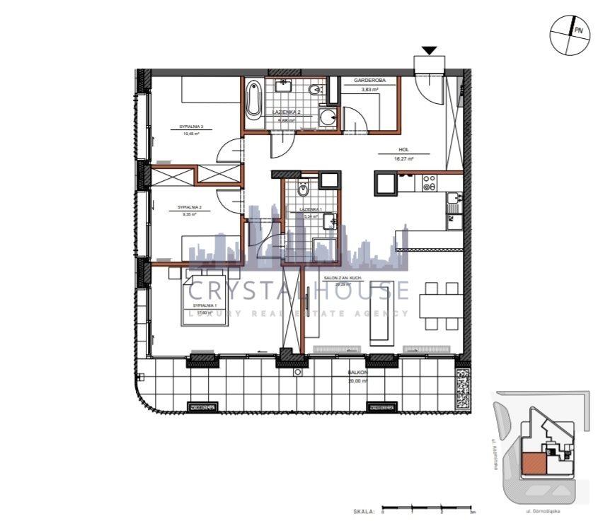 Mieszkanie czteropokojowe  na sprzedaż Warszawa, Śródmieście, Górnośląska  98m2 Foto 9