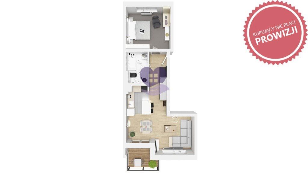Mieszkanie dwupokojowe na sprzedaż Ełk, Ogrodowa  48m2 Foto 3