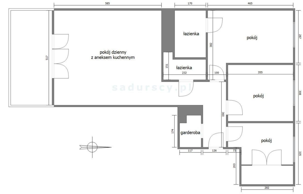 Mieszkanie czteropokojowe  na sprzedaż Kraków, Grzegórzki, Olsza, al. 29 Listopada  88m2 Foto 3