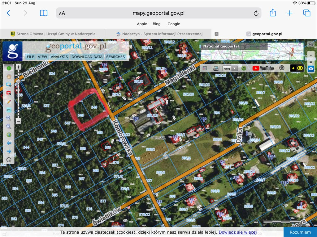 Działka leśna z prawem budowy na sprzedaż Nadarzyn, Wieś Strzeniówka, Komorowska  2300m2 Foto 1