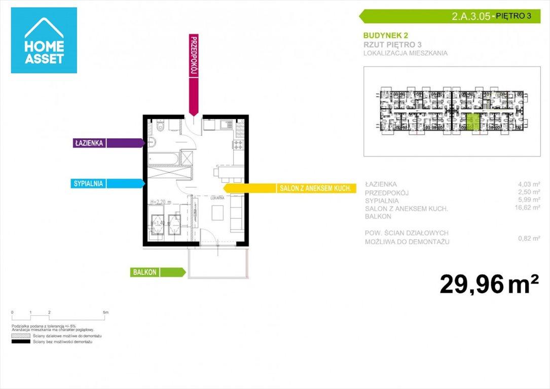 Mieszkanie dwupokojowe na sprzedaż Gdańsk, Niepołomicka  30m2 Foto 3