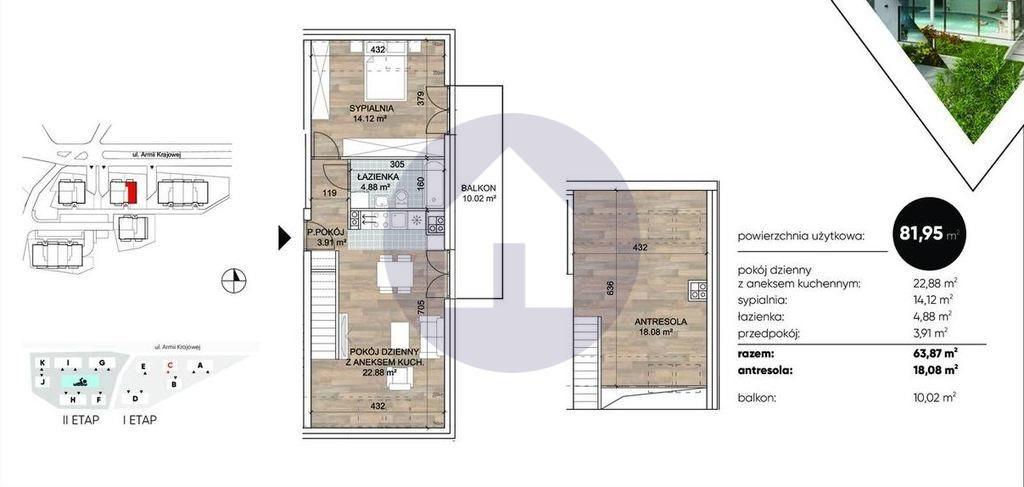 Mieszkanie trzypokojowe na sprzedaż Sobótka  64m2 Foto 3