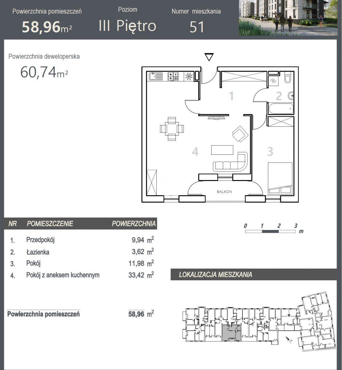 Mieszkanie dwupokojowe na sprzedaż Bydgoszcz, Szwederowo, Stanisława Leszczyńskiego  61m2 Foto 5