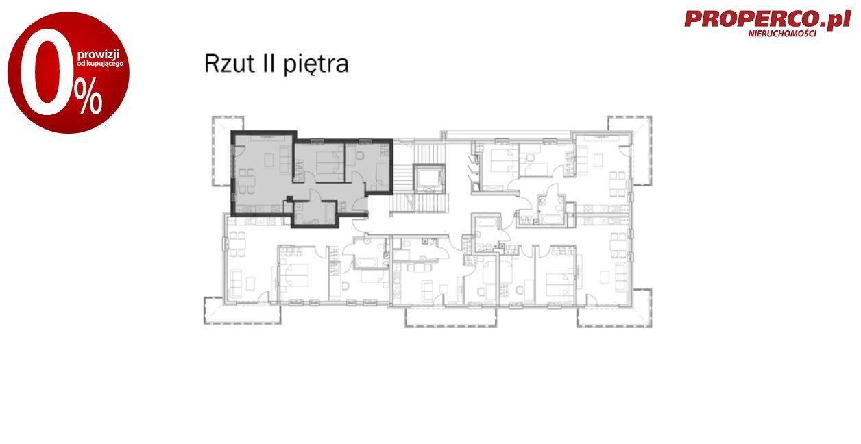 Mieszkanie trzypokojowe na sprzedaż Kielce, Baranówek  56m2 Foto 9