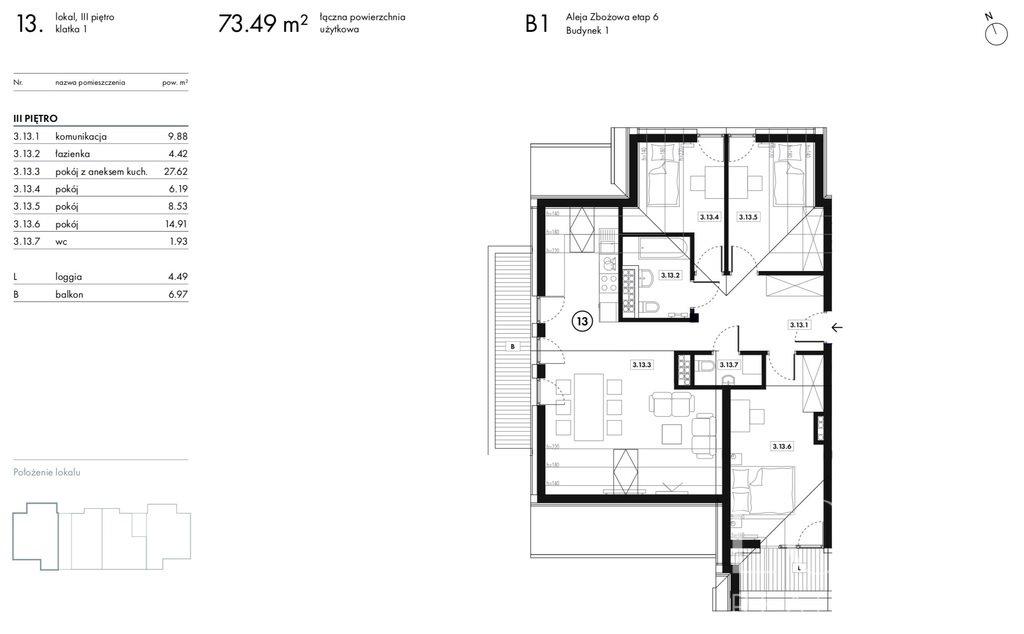 Mieszkanie czteropokojowe  na sprzedaż Wieliczka, Zbożowa  73m2 Foto 10
