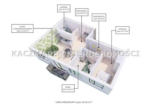 Mieszkanie na sprzedaż Bieruń  55m2 Foto 4