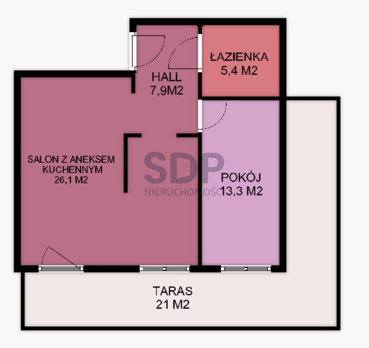 Mieszkanie dwupokojowe na sprzedaż Wrocław, Krzyki, Tarnogaj, Piękna  53m2 Foto 7