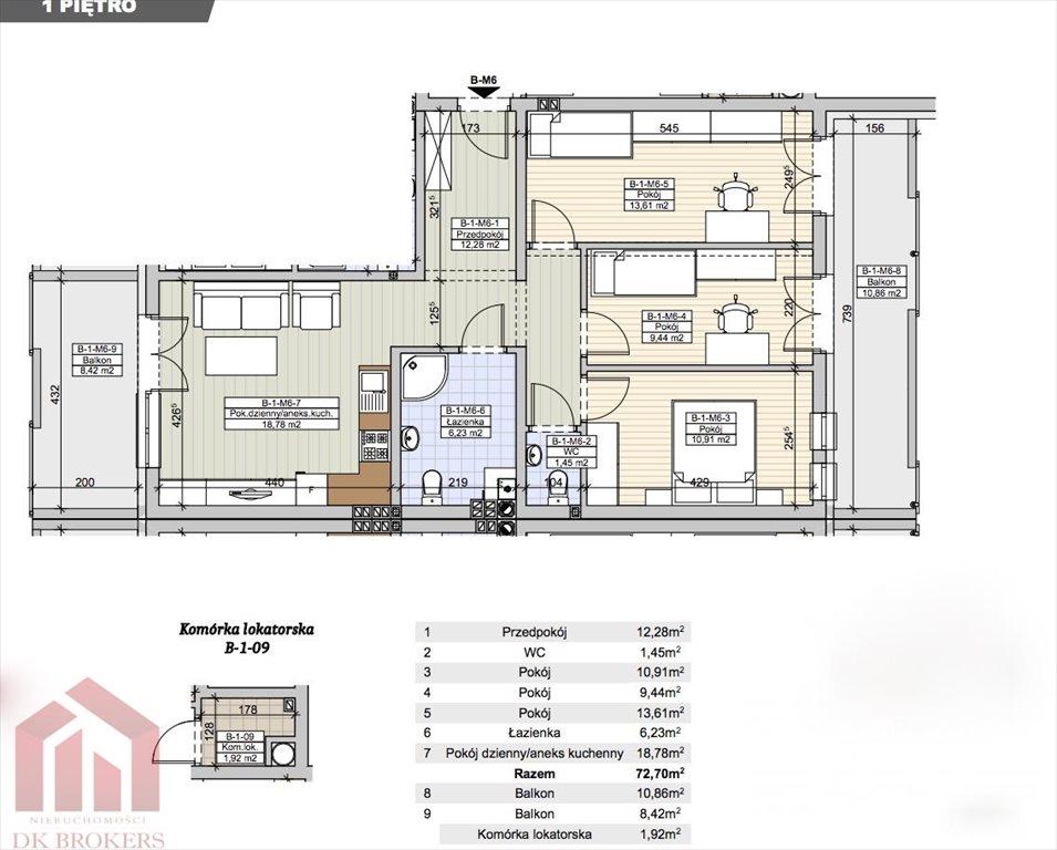 Mieszkanie czteropokojowe  na sprzedaż Rzeszów, Staroniwa, Wywrockiego  73m2 Foto 1