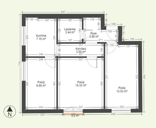 Mieszkanie trzypokojowe na sprzedaż Kielce, Osiedle Jagiellońskie  55m2 Foto 1