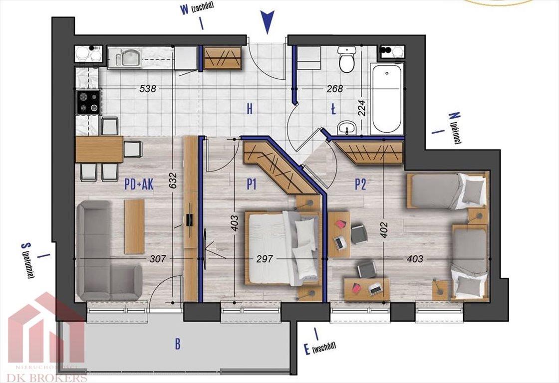 Mieszkanie trzypokojowe na sprzedaż Rzeszów, Przybyszówka, Błogosławionej Karoliny  56m2 Foto 2