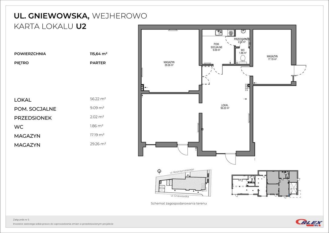 Lokal użytkowy na sprzedaż Wejherowo, GNIEWOWSKA 30  116m2 Foto 3