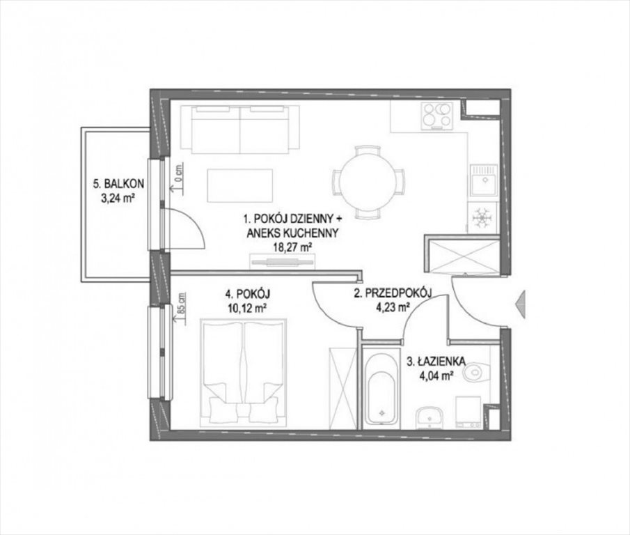 Mieszkanie dwupokojowe na sprzedaż Rokitki  37m2 Foto 4