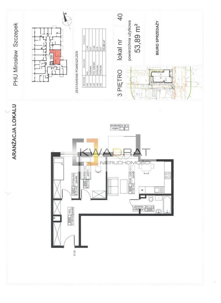 Mieszkanie trzypokojowe na sprzedaż Mińsk Mazowiecki, Warszawska  54m2 Foto 1