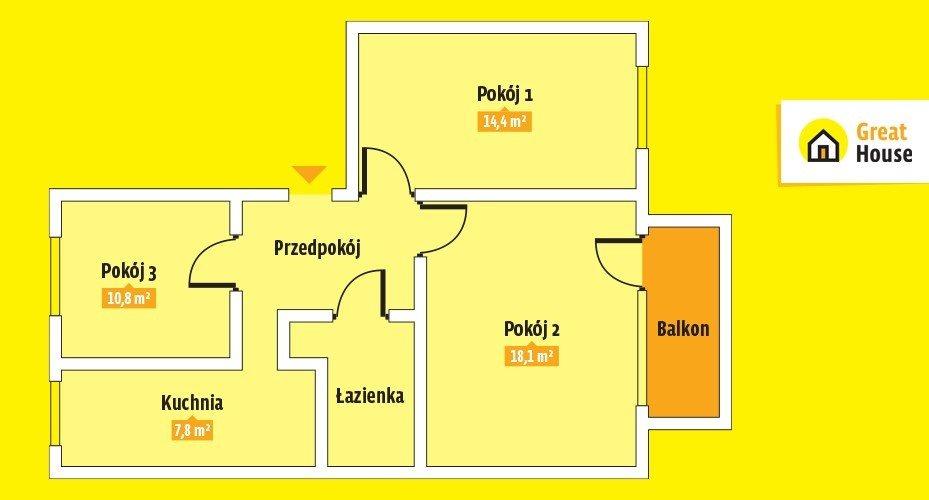 Mieszkanie trzypokojowe na sprzedaż Kielce, Bocianek, Cypriana Kamila Norwida  60m2 Foto 6