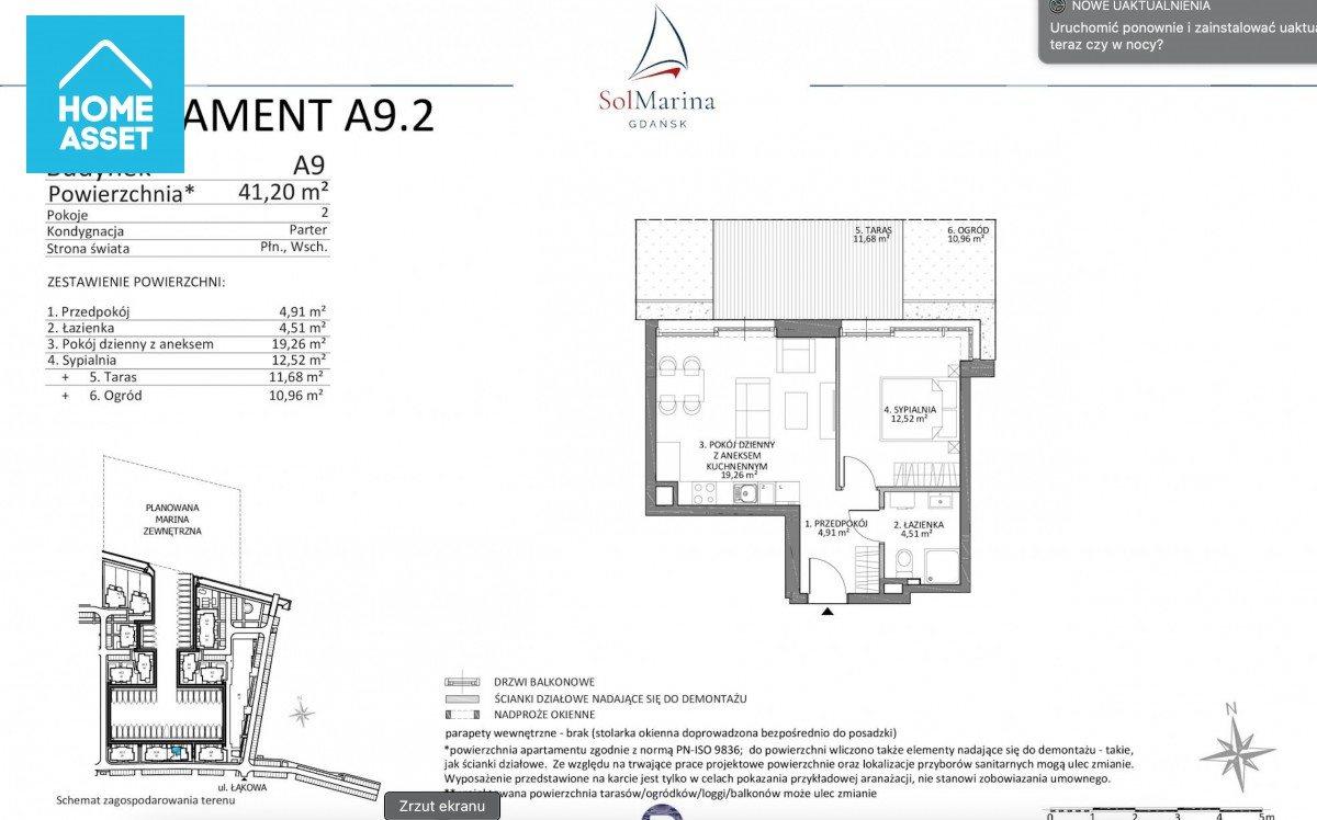 Mieszkanie dwupokojowe na sprzedaż Wiślinka, Łąkowa  41m2 Foto 4