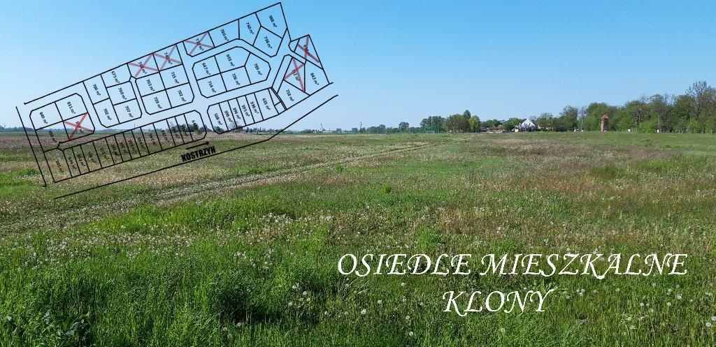 Działka budowlana na sprzedaż Kostrzyn, Klony, Klony  780m2 Foto 2