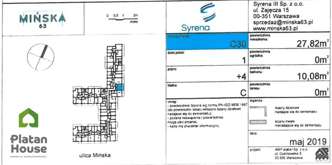 Mieszkanie dwupokojowe na sprzedaż Warszawa, Praga-Południe, Mińska  28m2 Foto 3