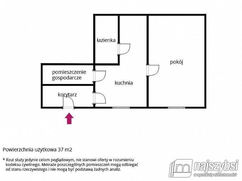 Mieszkanie na sprzedaż Łobez, obrzeża  37m2 Foto 10