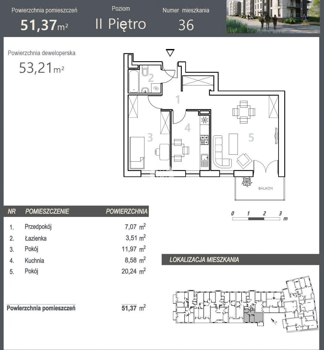 Mieszkanie dwupokojowe na sprzedaż Bydgoszcz, Szwederowo, Stanisława Leszczyńskiego  53m2 Foto 5