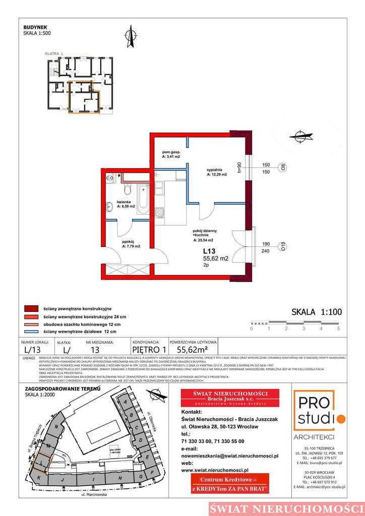 Mieszkanie dwupokojowe na sprzedaż Trzebnica  56m2 Foto 2