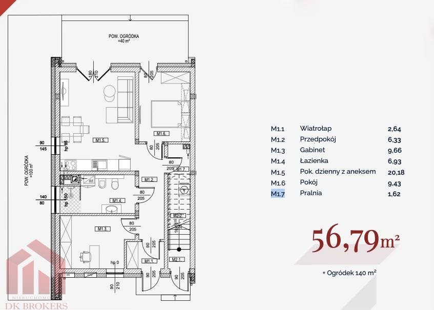 Mieszkanie trzypokojowe na sprzedaż Rzeszów, Miłocin, Myśliwska  57m2 Foto 6